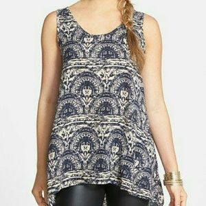 Nordstrom's Painted Threads Chiffon High/Low Tank