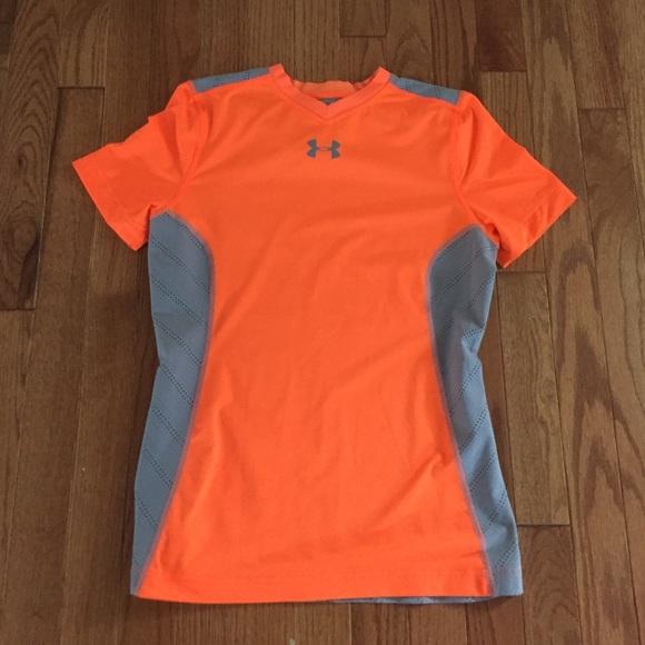orange under armour t shirt