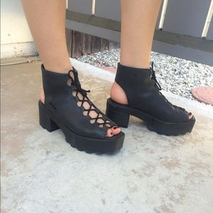 Cheap Monday Shoes - Cheap Monday Trapped Lace Up Heel SOLDOUT 5EVER