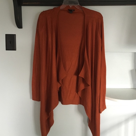 77% off East 5th Sweaters - Burnt orange waterfall cardigan from ...