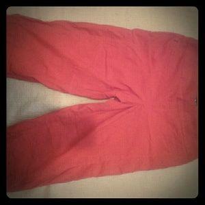 Point Zero  Pants - Point Zero Red Capri Pants