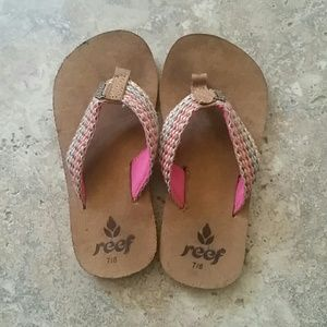 Reef Sandals Size 7/8 Toddler