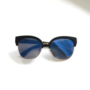 • final sale • blue cat eye sunglasses