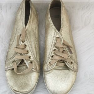 Zara Gold Sneakers | Size US 9