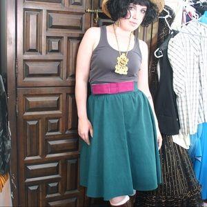 Dresses & Skirts - Handmade green fuchsia bow skirt