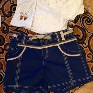 Point Zero Pants - ☀️SALE☀️NEW Dark Blue and Khaki Short w/details