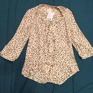Ruffled Picea Blouse by HD in Paris, sz 0 BNWT