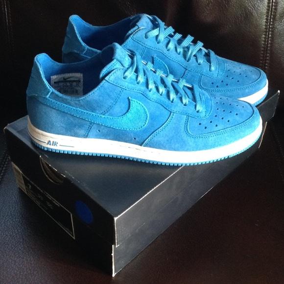 nike air force 1 blue suede aqua