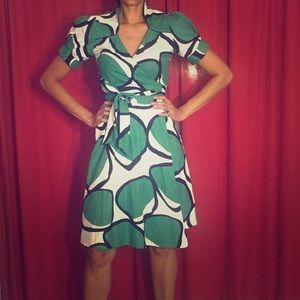 Wrap dress midi green s