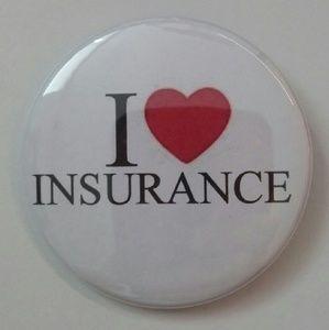 Flo Halloween Costume I Love Insurance Badge Pin