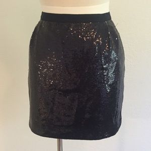 J.Crew Navy blue sequin skirt