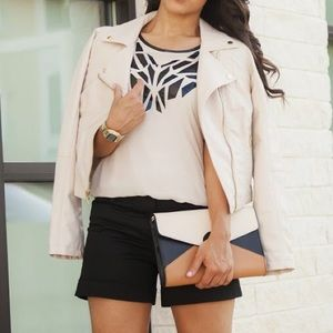 Jennifer Lopez Jackets & Blazers - Blush Pastel Pink Faux Leather Jacket