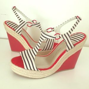 Isabel Toledo Shoes - Vegan Nautical Red White & Blue Sandals