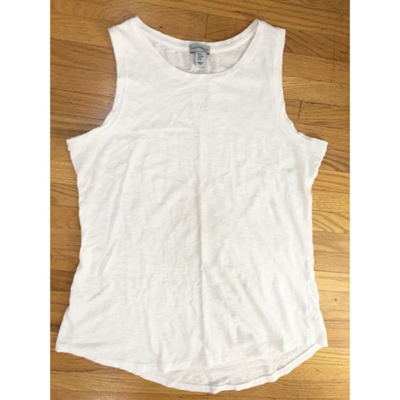 White Cotton Tank Top