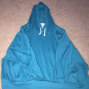 Turquoise Half Sleeve Hoodie