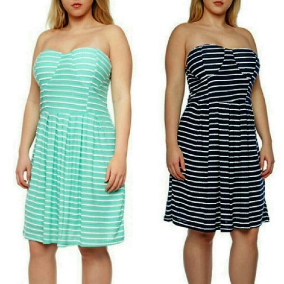 New Look Dresses Host Pick Plus Size Strapless Knit Dress 3x