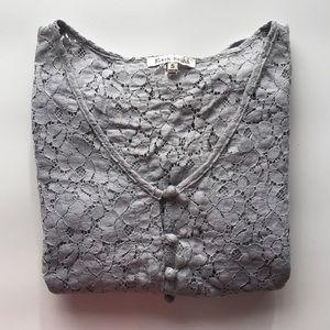 Black Rainn Tops - Lace Peplum Blouse