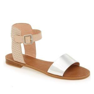 Top Shop 'Hot Stud' Ankle Strap Sandals
