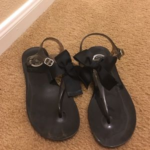 Black BCBG sandals