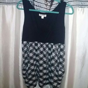 Black & Grey Print Dress