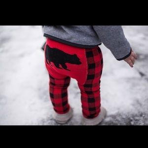 Other - 🆕Doodlepants leggings Red and Black Bear