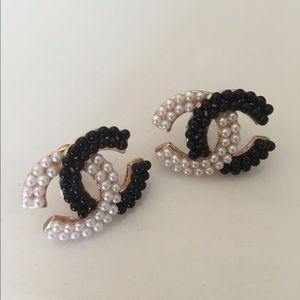 Jewelry - Chanel logo earrings