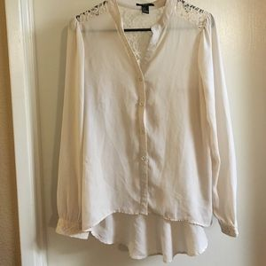 Tops - F21 Cream Lace Blouse