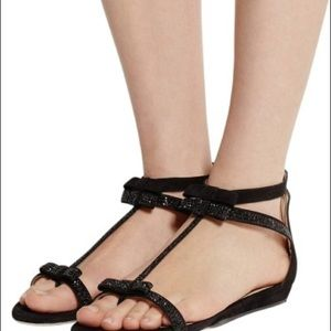 Jimmy Choo Shoes - Jimmy Choo Embellished  Suede sandals