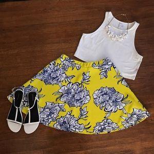Boohoo Dresses & Skirts - Floral Print Skater Skirt