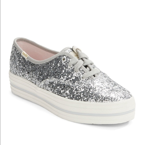 silver sparkly keds
