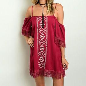 Dresses & Skirts - Boho Fringe Dress