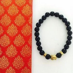 Bondhu Jewelry - Tourmaline Buddha Mala Bracelet