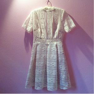 Vici Collection Dresses & Skirts - Lace Dress with mock neck and box pleat skirt