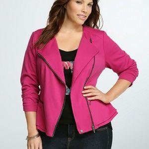 Torrid Pink Peplum motor jacket!