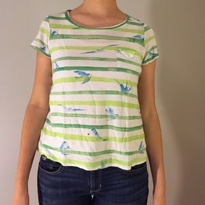 Anthro striped watercolor tee