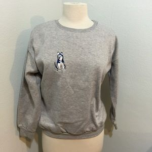  Puppy!!! Gray Sweatshirt Sz XS/S NWT