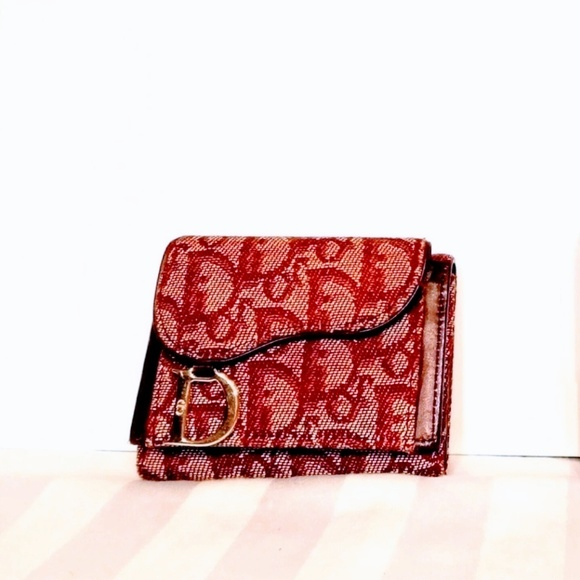 Dior Bags   Christian Trotter Red Trifold Wallet Guc   Poshmark a7f3252a9d