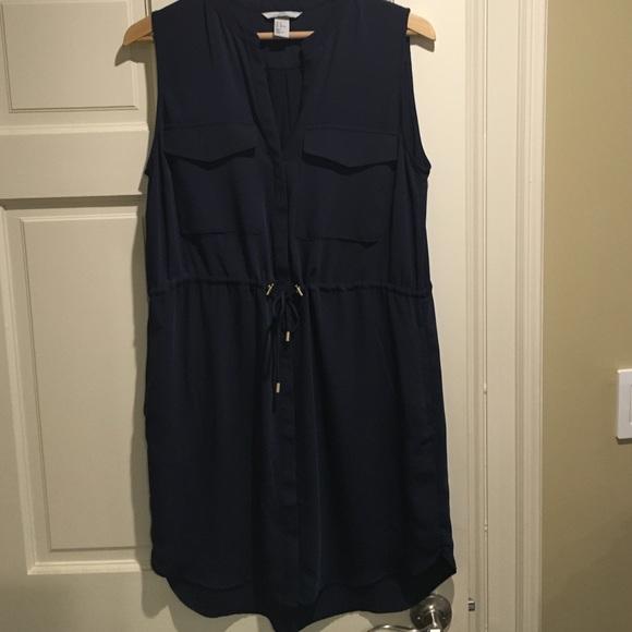 d57c4849bc0 H M Dresses   Skirts - H M Navy shirt dress size 12