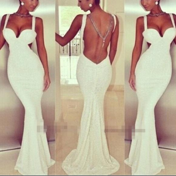Classic Dresses Beautiful Mermaid Wedding Dress Street Size 8