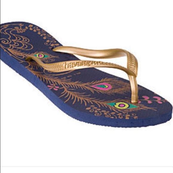 64bb4ebe1 Havaianas Shoes - Havaianas peacock flip flops