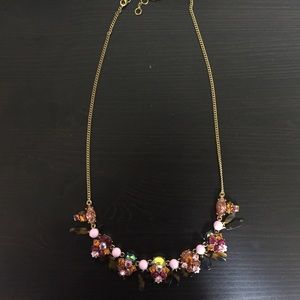 J. Crew Pink & Tortoise Shell statement necklace