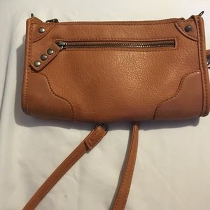 Brown cross body purse