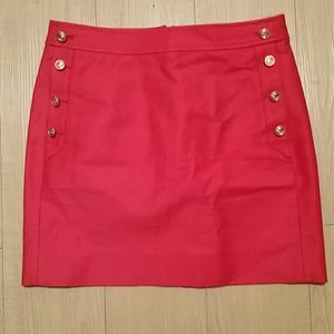 J.Crew coral skirt with pockets!