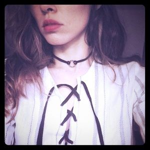 NEW suede choker LF leather necklace jewelry