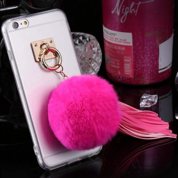 huge selection of cd245 dd1e5 🆕 Real Rabbit Fur Tassel iPhone 5 6 6 Plus Cases! Boutique
