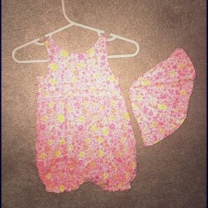 Absorba Other - Baby Romper with matching hat