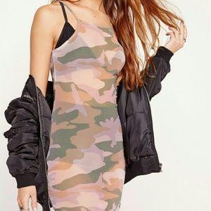 NWT MISSGUIDED Camo dress