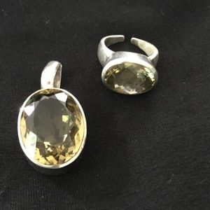 Jewelry - Ring & pendant in sterling