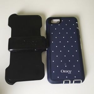 Otterbox  navy blue polka dots 6/6s iphone case