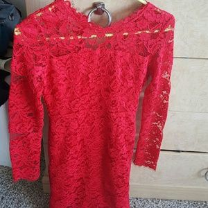 Dresses & Skirts - Red Lace floral Dress